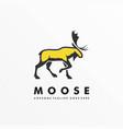 logo moose deer walking mascot cartoon style vector image vector image
