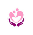 love couple care hand logo vector image