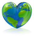 love the world heart concept vector image vector image
