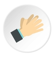 Open palm icon flat style vector image