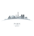 Paris France city skyline silhouette vector image vector image