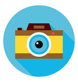 Photo Camera Circle Icon vector image vector image