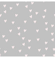pink hearts on white hand drawn cute tender color vector image vector image