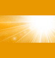 rays yellow background gold sunny sky heat vector image vector image