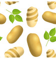 realistic detailed 3d whole potatoes twisted peel vector image