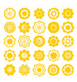 realistic paper sticker set flowers vector image vector image