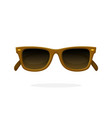 retro sunglasses with brown horn-rimmed frames vector image