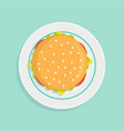 sandwich on plate vector image vector image