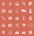 SEO color icons on orange background vector image vector image
