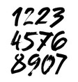 set of calligraphic acrylic or ink numbers vector image vector image