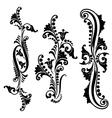 Set vintage swirling floral elements vector image vector image