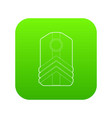 shoulder straps icon green vector image vector image