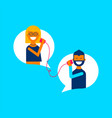 social media online chat communication concept vector image vector image