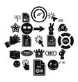 symbol icons set simple style vector image