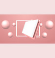 tablet minimalistic 3d isometric vector image vector image