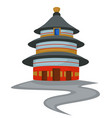 temple heaven chinese architecture isolated vector image vector image
