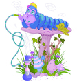 The Blue Caterpillar vector image vector image