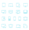 Thin lines icon set - responsive devices vector image vector image