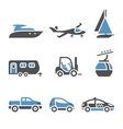 Transport Icons - A set of first vector image vector image