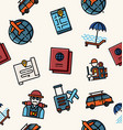travel line icon pattern vector image