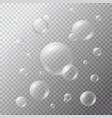 underwater white bubbles vector image