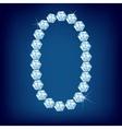 vector diamond alphabet lette o vector image