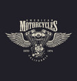 vintage custom motorcycle label vector image vector image