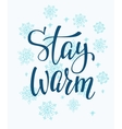 Winter cold Stay warm typography quote vector image