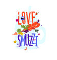 with love smoothie inscription a mistake in the vector image vector image