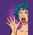 Woman panic fear surprise gesture girls 80s