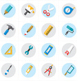 Flat Icons For Tools Related Icons vector image