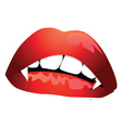 Vampire mouth vector image