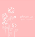 Flower background with stylized roses vector image