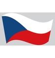Flag of Czech Republic waving vector image