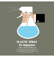 Plastic Spray For Dispersion vector image
