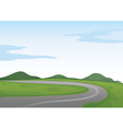 a green landscape and a road vector image vector image