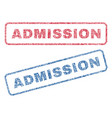 admission textile stamps vector image vector image