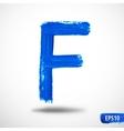 Alphabet Letter F Watercolor Alphabet vector image vector image