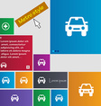 Auto icon sign Metro style buttons Modern vector image vector image