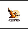 awesome flying swan logo design vector image vector image