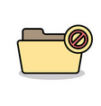 ban banned block cancel disabled folder stop icon vector image vector image