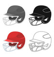 baseball helmet baseball single icon in cartoon vector image vector image