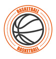 basketball sport vector image vector image