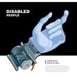 bionic hand vector image vector image