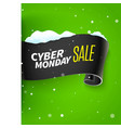 black friday sale ribbon and snow vector image vector image
