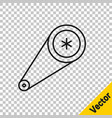 black line timing belt kit icon isolated on vector image vector image