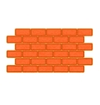 Brick wall icon flat style vector image vector image