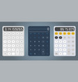calculator design template vector image vector image