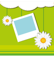card with frame and chamomile vector image vector image