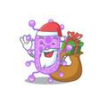 cartoon design mycobacterium santa vector image vector image